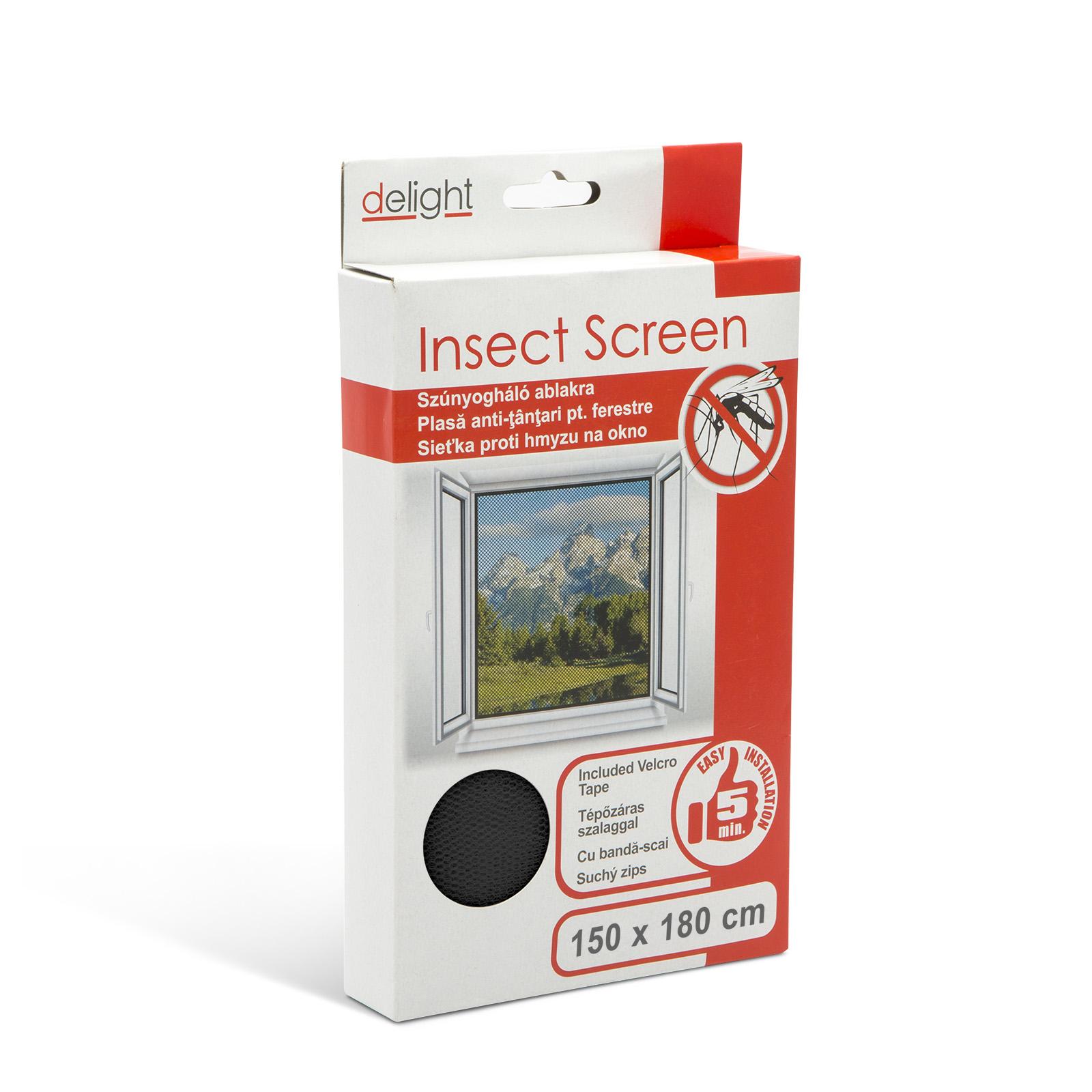 Topvyrobky.sk Sieťka proti hmyzu na okno čierna