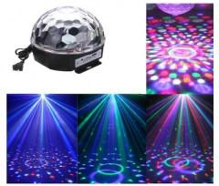 Bluetooth LED disco guľa